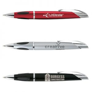 protrusion pen red silver black