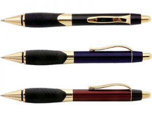 explorer pen gold, black, blue, red