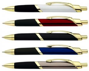 mujltiple pens gold trimmings